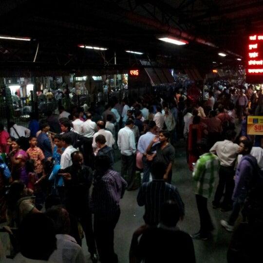 Photo taken at Dadar Railway Station by Ashvini S. on 12/9/2012