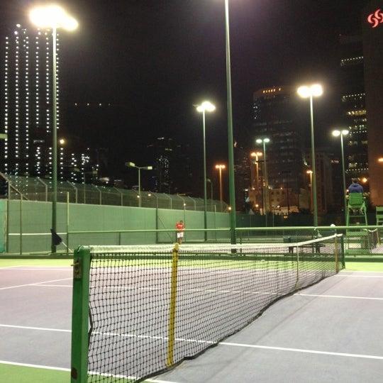 Photo taken at Qatar Tennis Federation by Ozan G. on 1/6/2013