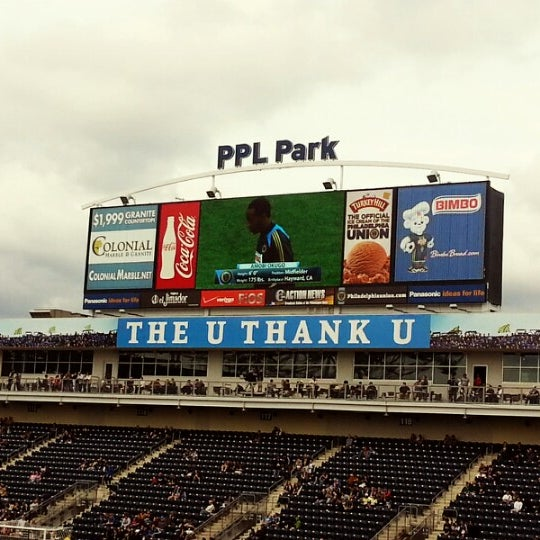 Photo taken at Talen Energy Stadium by Jorge A. on 10/27/2012