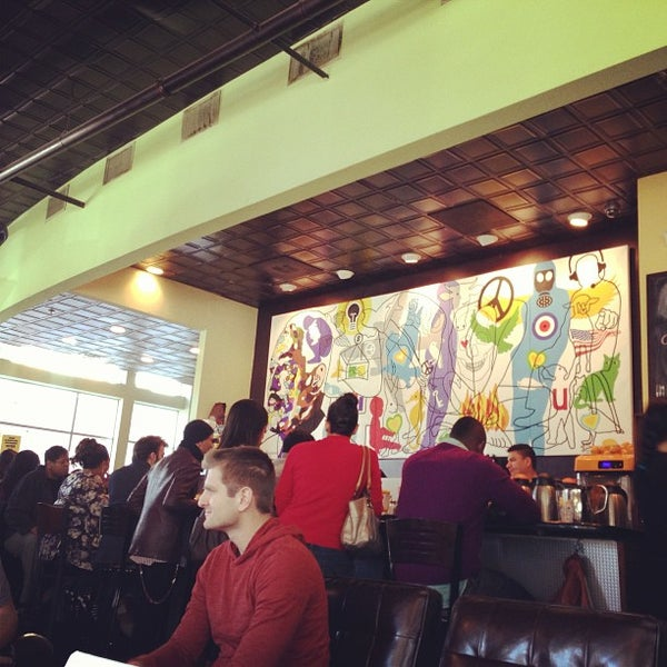 Photo taken at Busboys and Poets by Jared W. on 1/19/2013