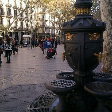 Photo taken at Font de Canaletes by ANTONI C. on 11/23/2012