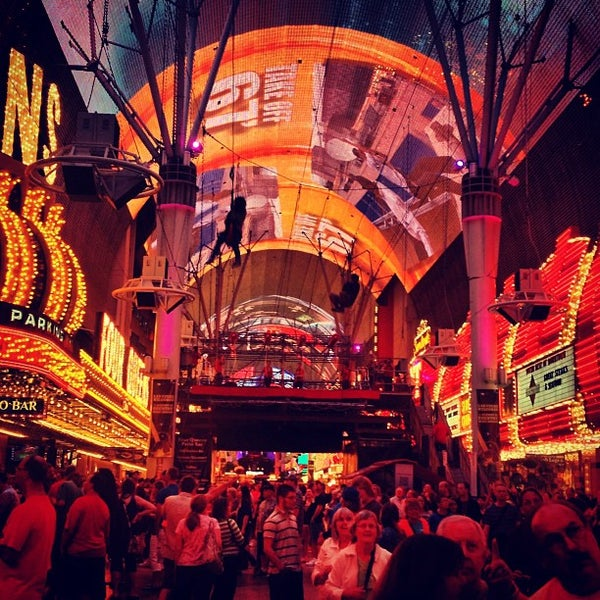 Photo taken at Fremont Street Experience by Rob P. on 4/4/2013
