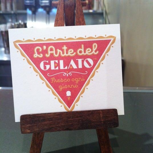 Photo taken at L'Arte Del Gelato by Gustavo on 10/23/2012