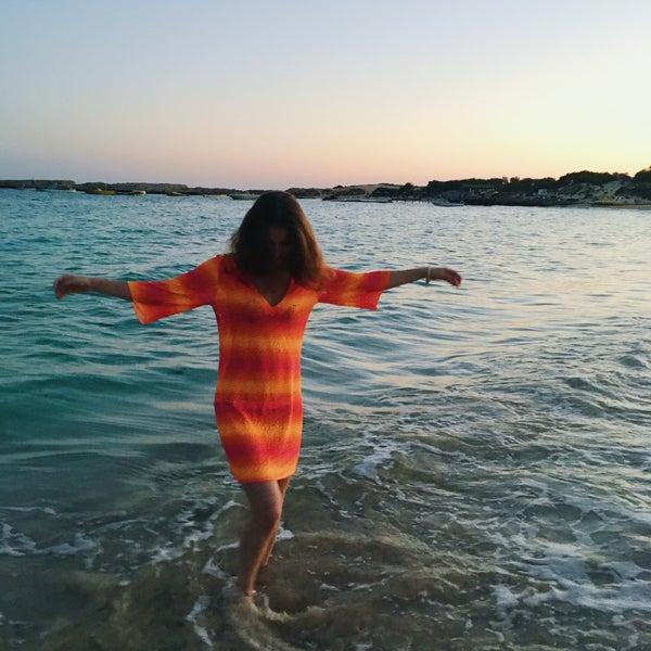 Photo taken at Makronissos Beach by Marianna on 10/26/2016