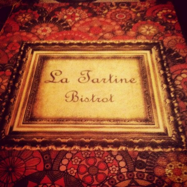 Foto tirada no(a) La Tartine Bistrot por My Destination S. em 1/30/2013