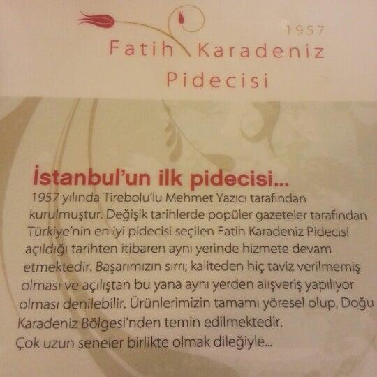 11/24/2012 tarihinde Sedef Malokziyaretçi tarafından Karadeniz Pide Salonu'de çekilen fotoğraf