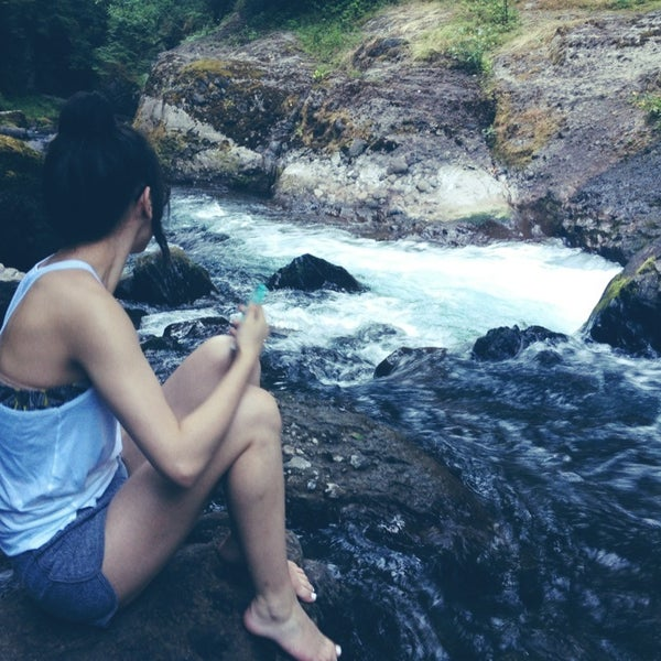Photo taken at Wahclella Falls Trail by Alexis T. on 7/10/2013