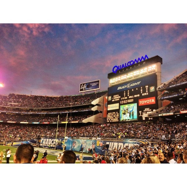 Photo taken at Qualcomm Stadium by Andy T. on 11/2/2012