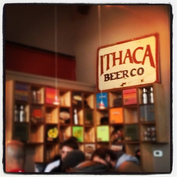 Photo taken at Ithaca Beer Co. Taproom by Alyssa A. on 10/13/2012