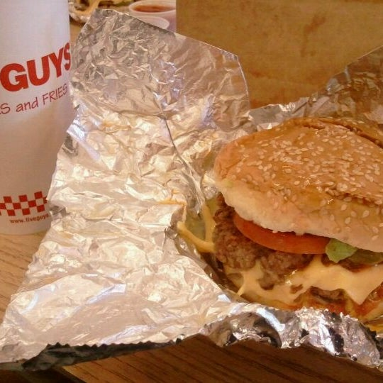 Photo taken at Five Guys by Tom S. on 6/17/2011