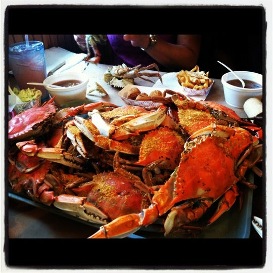 Photo taken at May's Crab & Seafood by Melissa K. on 8/4/2012