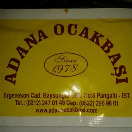 Photo taken at Adana Ocakbaşı by Mehmet D. on 12/8/2012
