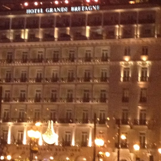 Photo taken at Hotel Grande Bretagne by Lida M. on 12/12/2012