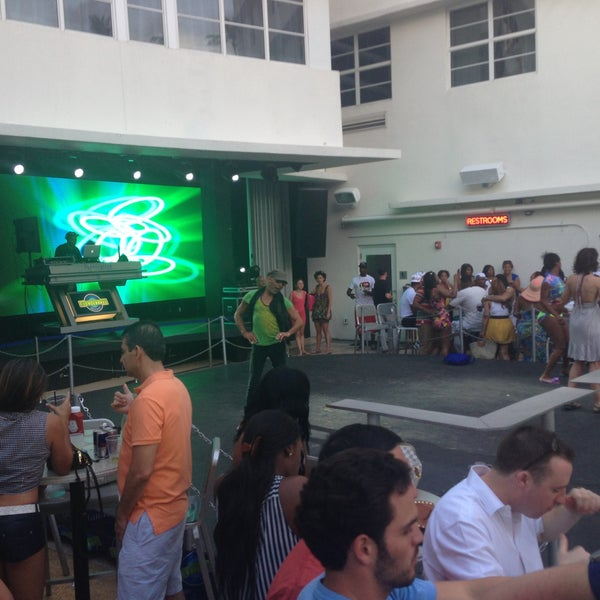 Photo taken at Clevelander South Beach Hotel and Bar by Monique G. on 4/27/2013