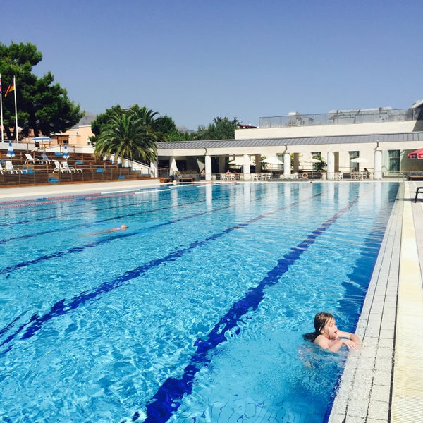 photo taken at olympic swimming pool naxos beach by yulia on 9202015 - Olympic Swimming Pool 2015