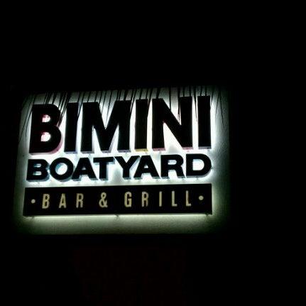 Photo taken at Bimini Boatyard Bar & Grill by Heath on 8/13/2011