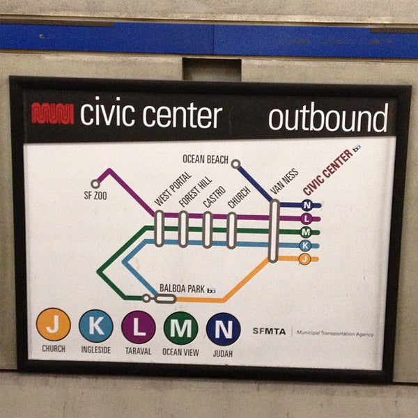 Photo taken at Civic Center/UN Plaza BART Station by AT m. on 12/3/2012