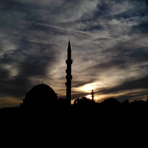 Photo taken at Hatuniye Camii by Ahmet C. on 2/20/2014
