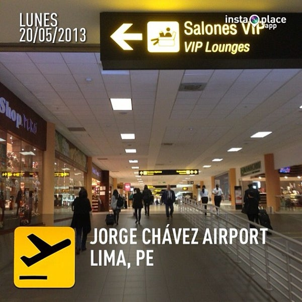 Photo taken at Jorge Chávez International Airport (LIM) by Sergio G. on 5/20/2013
