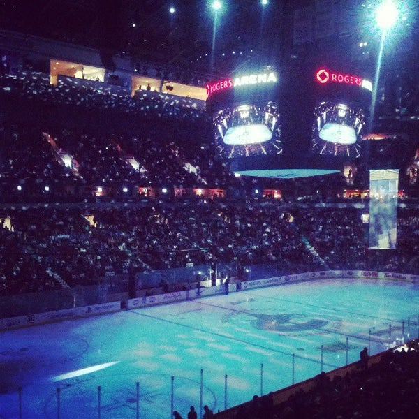 Photo taken at Rogers Arena by Kimberley O. on 4/23/2013