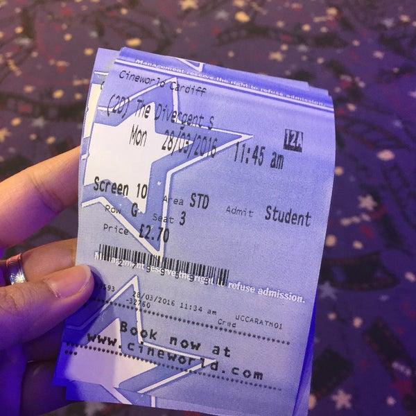 Photo taken at Cineworld by Nureen H. on 3/28/2016