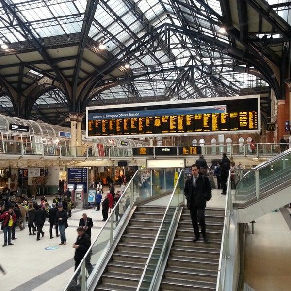 Photo taken at London Liverpool Street Railway Station (LST) by Anton B. on 3/7/2013
