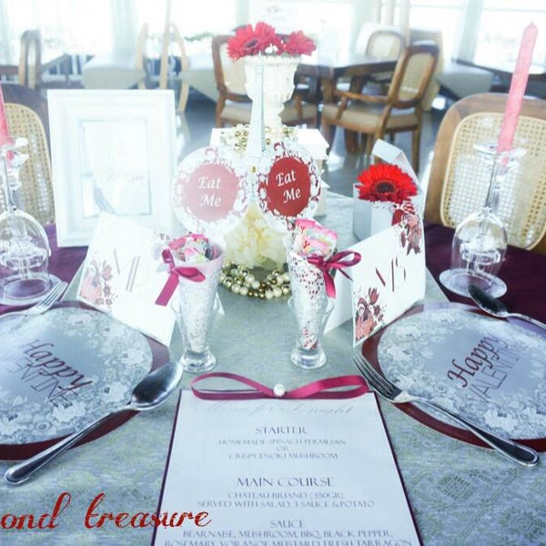 "Valentine's Dinner Decoration 14th February, ""Love in Paris"" RSVP Now : 0411 - 3620800 (limited seats)"