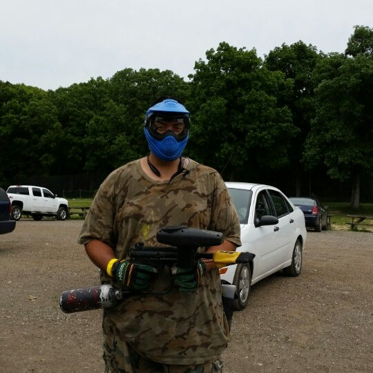 Photo taken at Badlandz Paintball Field by Javier C. on 6/7/2014