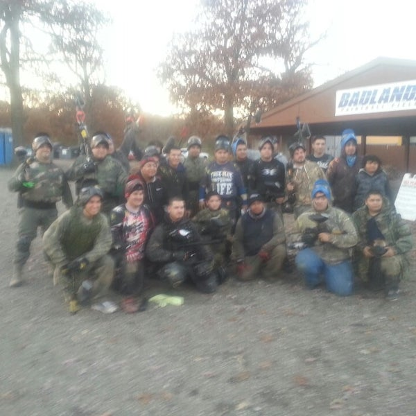 Photo taken at Badlandz Paintball Field by Javier C. on 11/9/2013