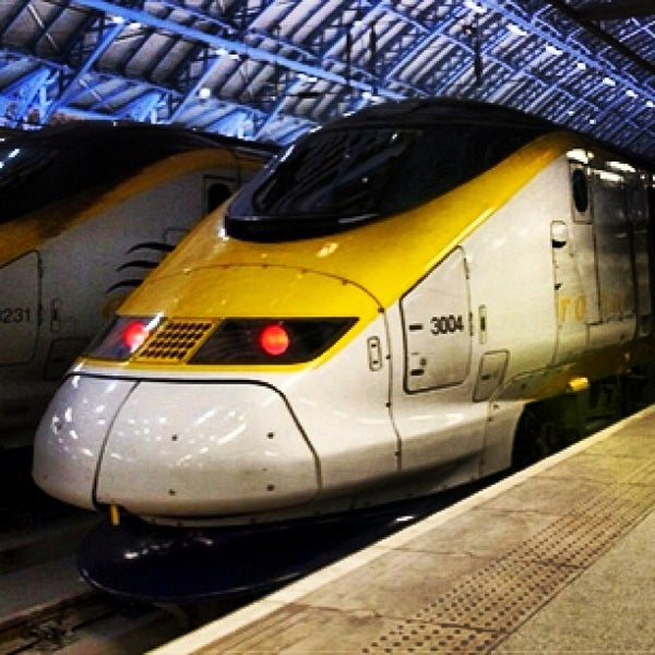 Photo taken at London St Pancras International Railway Station (STP) by Ashraf Wood on 12/21/2012