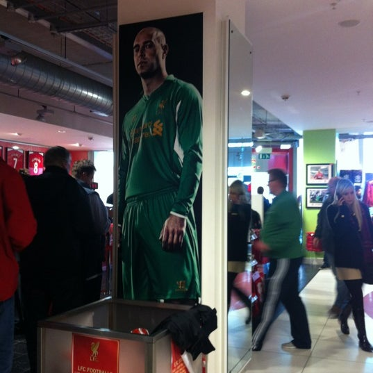 Photo taken at Liverpool FC Official Club Store by Dave on 11/4/2012