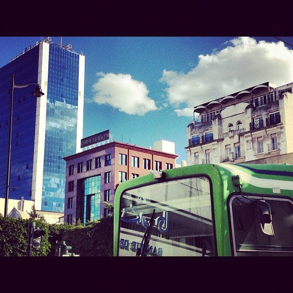 Photo taken at Avenue Habib Bourguiba by Nadhir M. on 11/28/2012