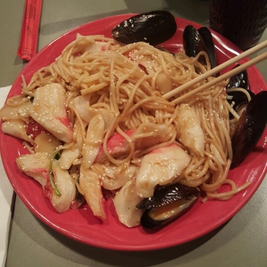 Everything is delicious. The best part is you can create your own dishes! The seafood is my favorite.