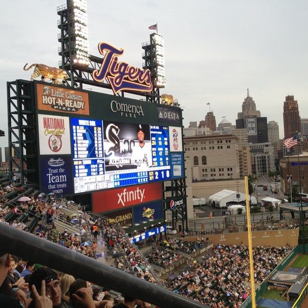 Photo taken at Comerica Park by Laura G. on 7/10/2013