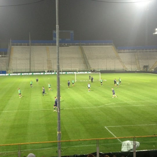 Photo taken at Stadio Ennio Tardini by Andrea on 11/13/2012