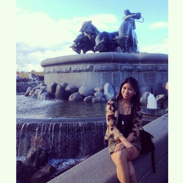 Photo taken at Gefion Fountain by Precious on 8/19/2013