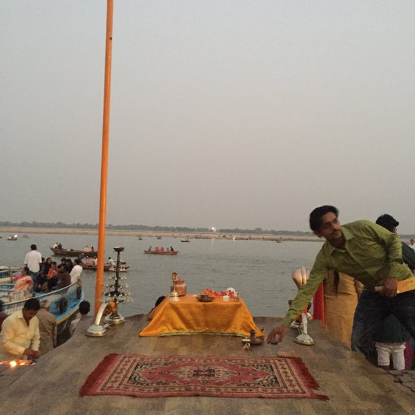 Photo taken at Dasaswamedh Ghat by Amily M. on 10/31/2016