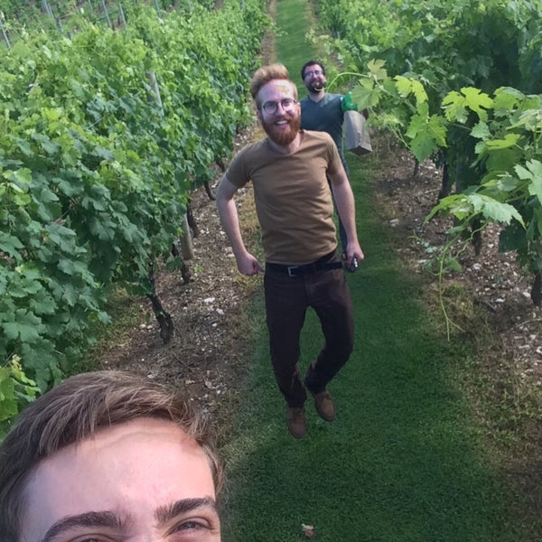 Photo taken at Three Fox Vineyards by Bogdan S. on 7/4/2015