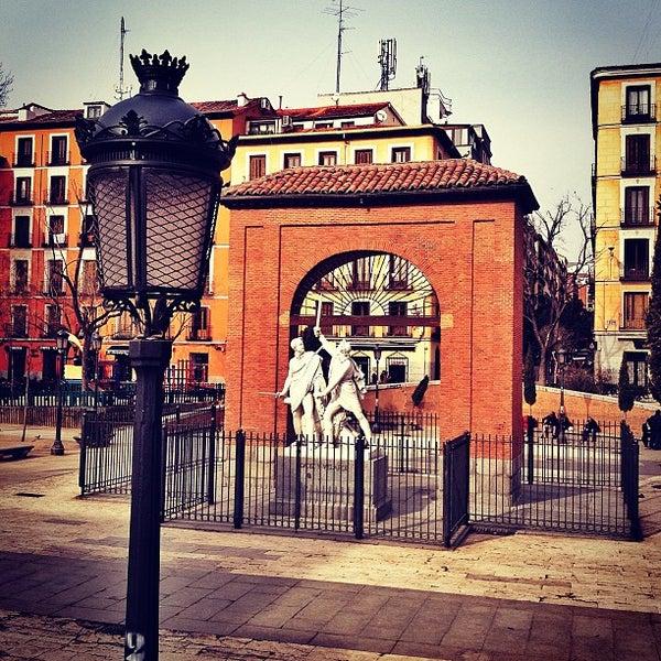Photo taken at Plaza del Dos de Mayo by Carlos P. on 2/16/2013