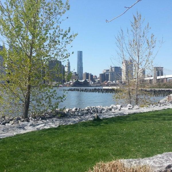 Photo taken at Brooklyn Bridge Park by Linda B. on 4/27/2013