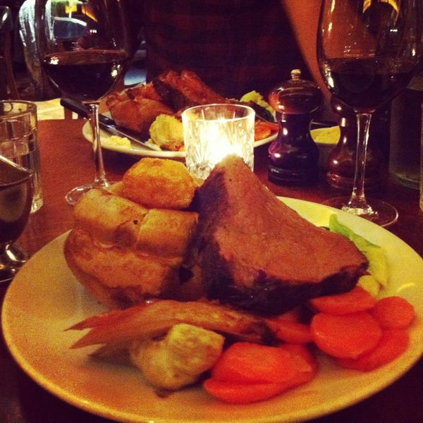 Incredible Sunday roast - £19.50. Well worth it, excellent value for money.
