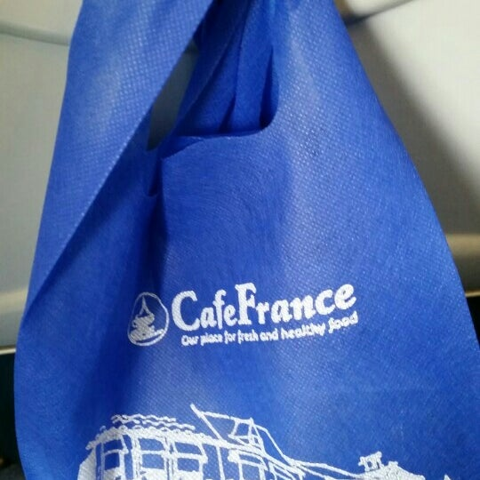 Photo taken at Café France by Oscar P. on 6/22/2015