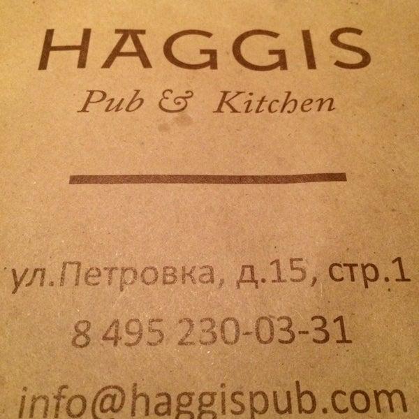 Photo taken at Haggis Pub & Kitchen by Андрей А. on 6/20/2014