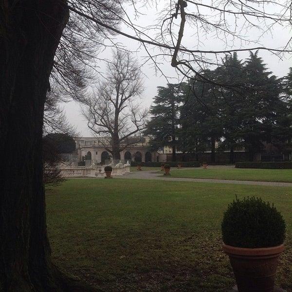 Photo taken at Villa Visconti Borromeo Litta by Fabio F. on 2/2/2014