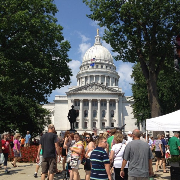 Photo taken at Dane County Farmers' Market by Lee K. on 7/20/2013