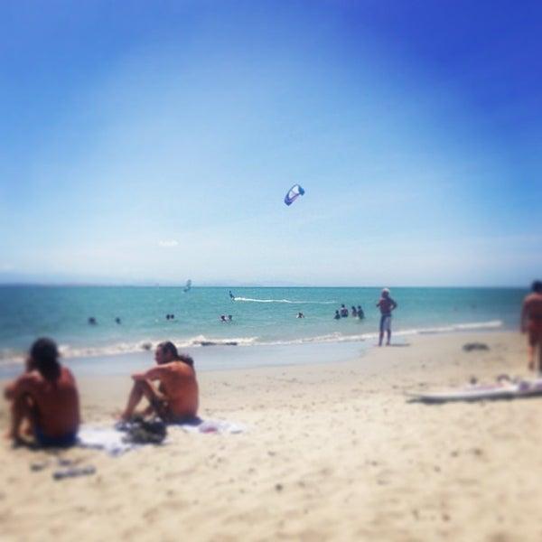 Photo taken at Playa El Yaque by Dikiy D. on 2/5/2013