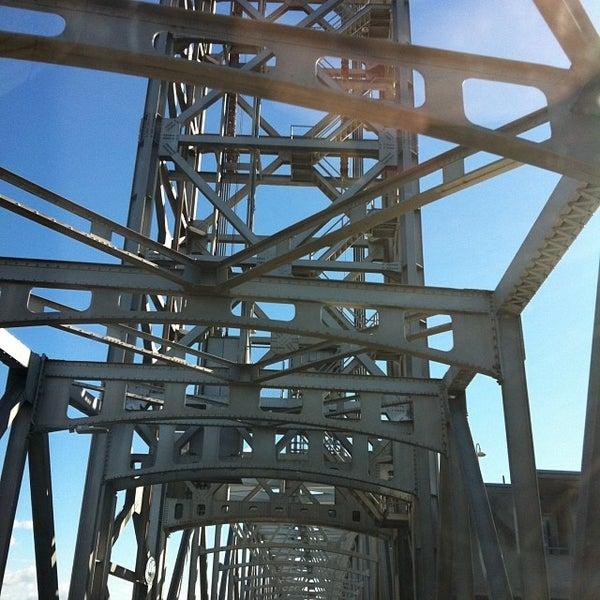 Photo taken at Rio Vista Bridge by Andy B. on 12/7/2013