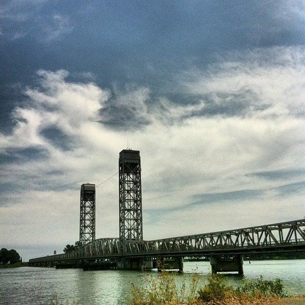 Photo taken at Rio Vista Bridge by Andy B. on 8/18/2013