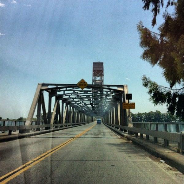 Photo taken at Rio Vista Bridge by Andy B. on 7/4/2013