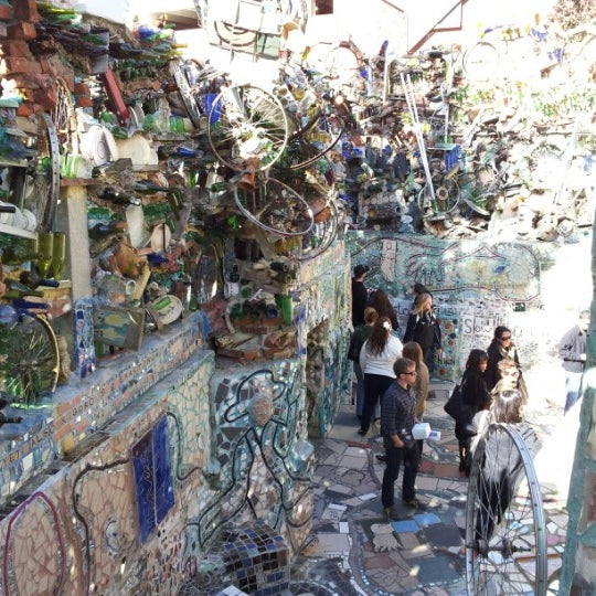 Photo taken at Philadelphia's Magic Gardens by Anny C. on 10/13/2012